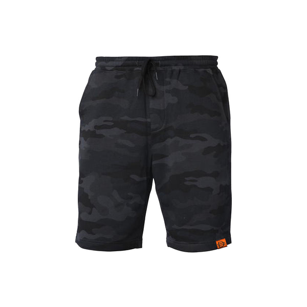 Fleece Shorts - Black Camo/ Orange