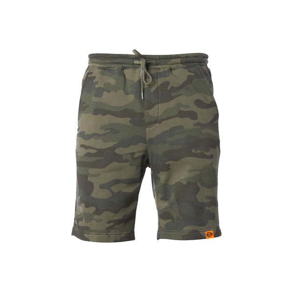 Fleece Shorts - Camo/Orange