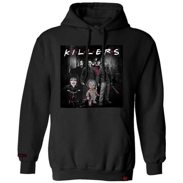 NEW!! Killer Friends Hoodie - Black/White/Red