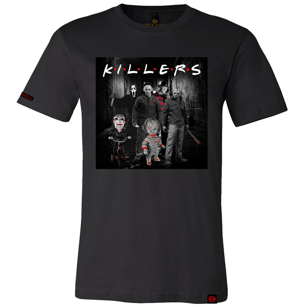 NEW!! Killer Friends Tee - Black/White/Red