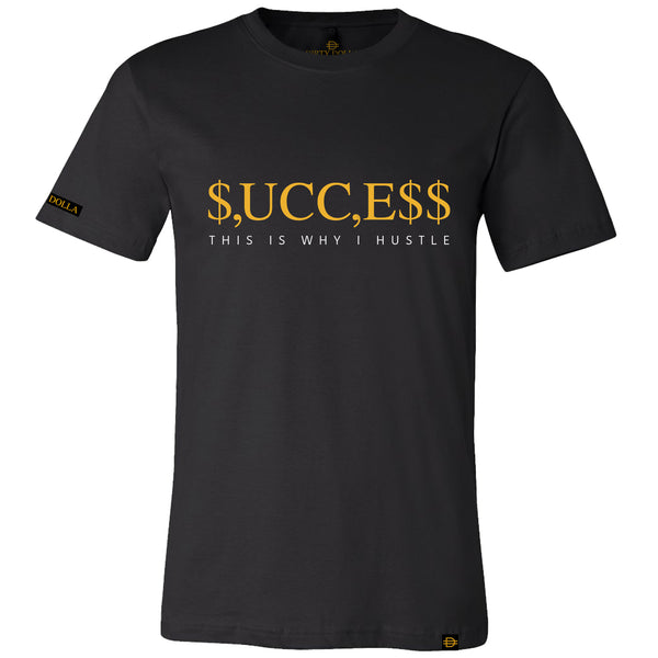 SUCCESS Tee - Black/Gold