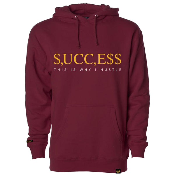 SUCCESS Hoodie - Maroon/Gold