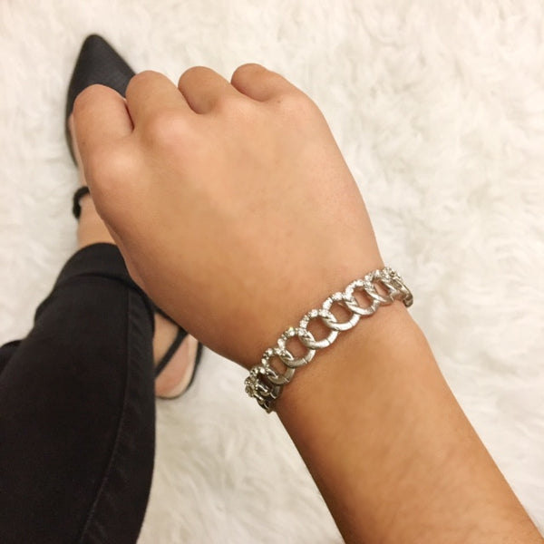Silver Chain Stretch Bracelet
