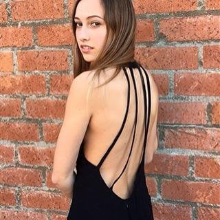Black Back Caged Dress