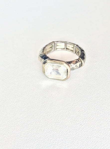 Gold Stretch Crystal Ring