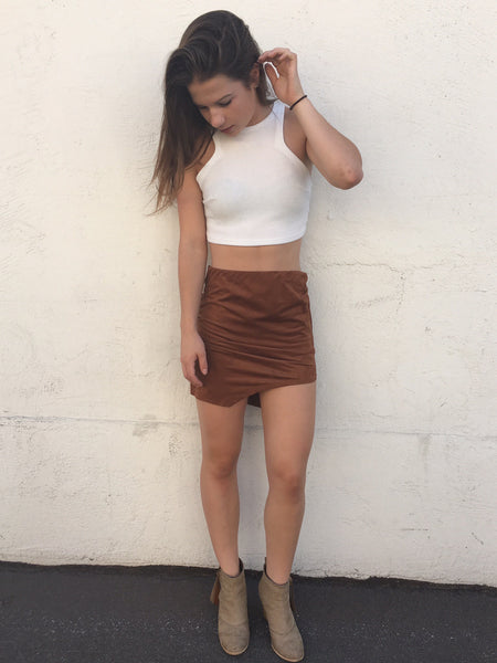 Brown Suede Skirt $38.99  Now