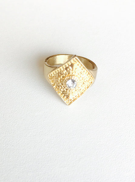 Gold Statement Band Ring