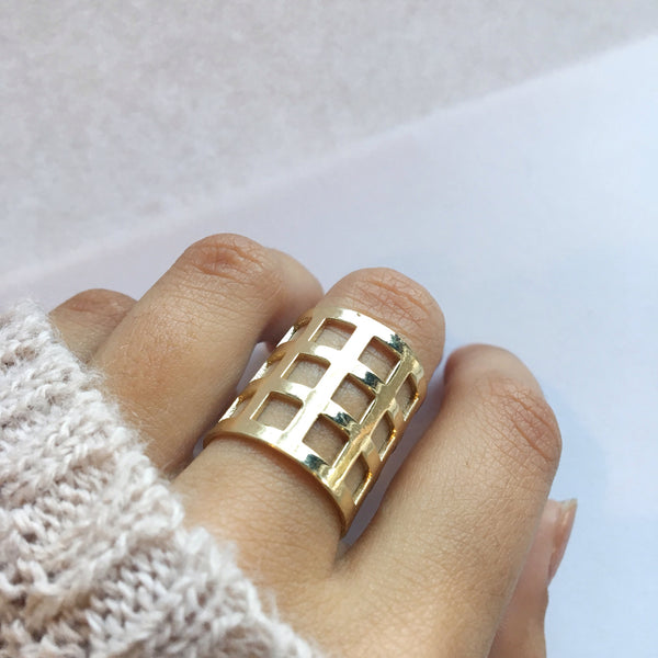 Gold Oversized Statement Ring