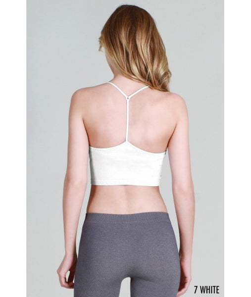 Y-Back crop cami