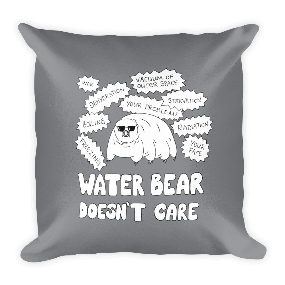 Water Bear Doesn't Care Pillow