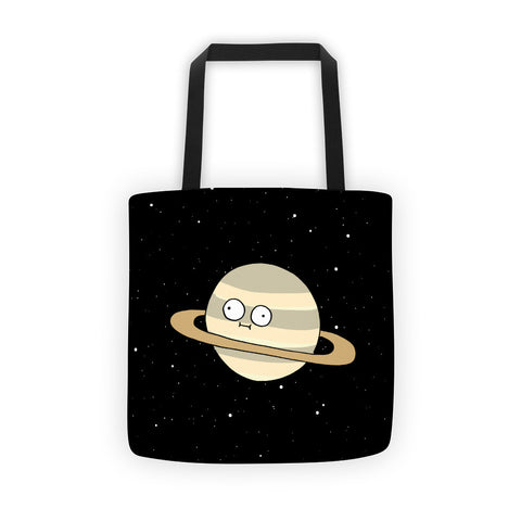 Starry Saturn Tote Bag