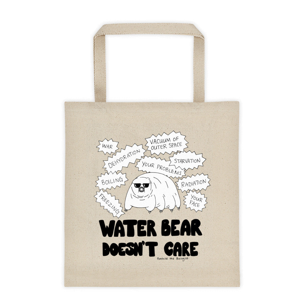 Water Bear Doesn't Care Tote Bag