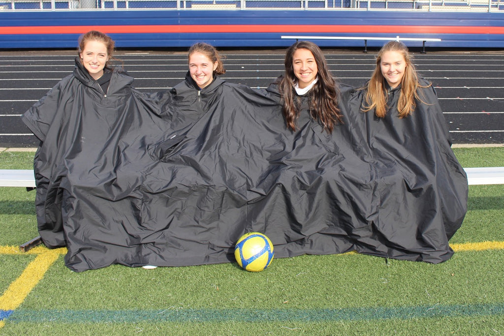 La Salle Women's soccer team Sharing heat under the Team Wallrest