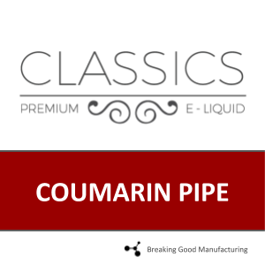 COUMARIN PIPE 30mL (70PG/30VG)