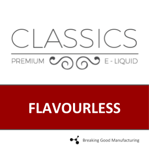 FLAVOURLESS 30mL (60PG/40VG)