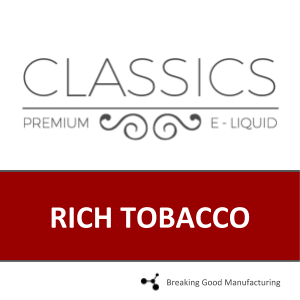 RICH TOBACCO (70PG/30VG)