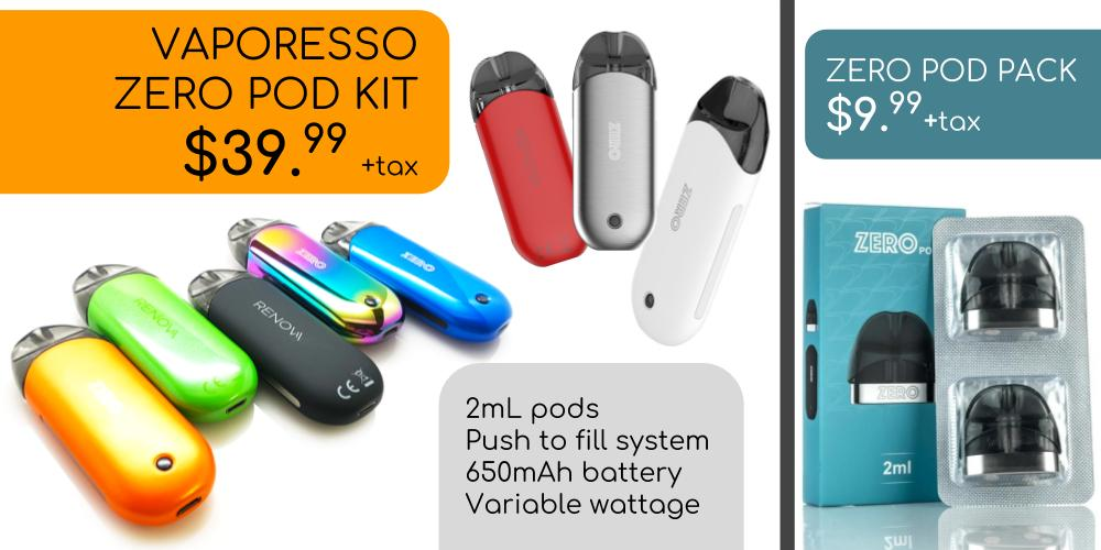 Vaporesso Zero Pod Kit @ The Foggy Coil Vape Shop