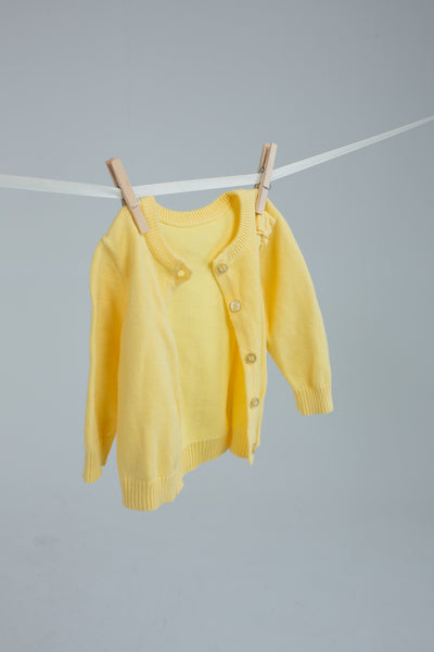 Nutmeg - Yellow Flower Cardigan