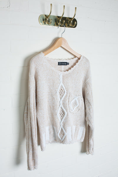 Factotum - Cable Knit Jumper
