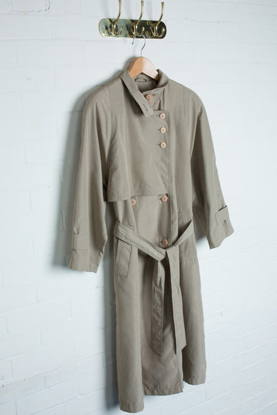 C&A - Vintage 80s Metallic Coat