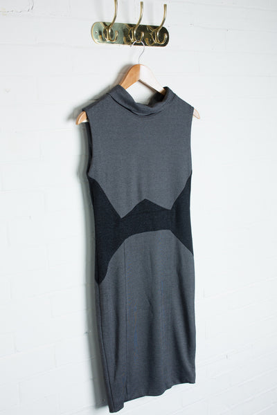 JDC London - Grey Shimmer Contrast Dress