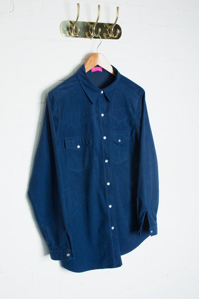 Navy Suede Shirt