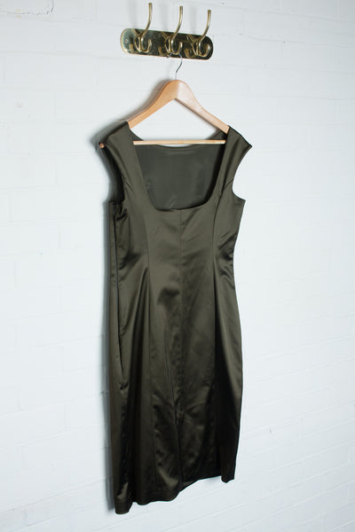 Coast - Emerald Satin Dress