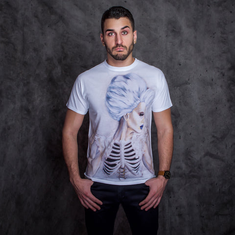 White Pearl Ribcage T-Shirt