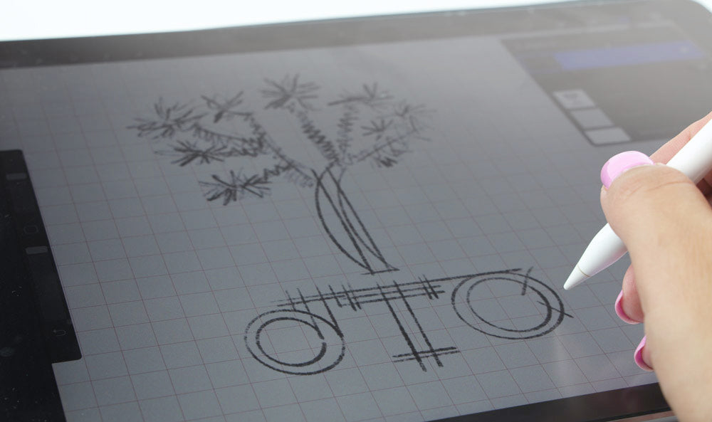 Sketching out new logo
