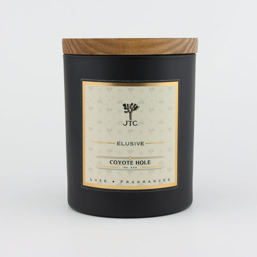 Joshua Tree Candle Company Coyote Hole Luxe Candle in Black Matte Colored Glass