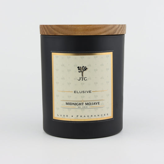 Joshua Tree Candle Company Midnight Mojave Luxe Candle in Black Matte Colored Glass