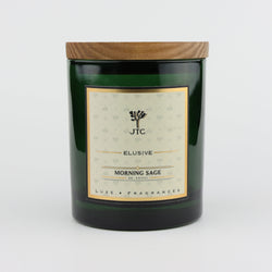 Joshua Tree Candle Company Morning Sage Luxe Candle in Green Colored Glass