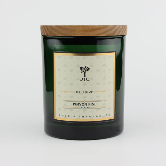 Joshua Tree Candle Company Pinyon Pine Luxe Candle in Green Colored Glass