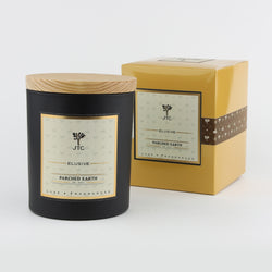 Joshua Tree Candle Company JT Luxe Collection - Parched Earth - Black Vessel with Gift Box