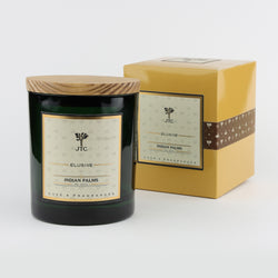 Joshua Tree Candle Company JT Luxe Collection - Indian Palms - Green Vessel with Gift Box