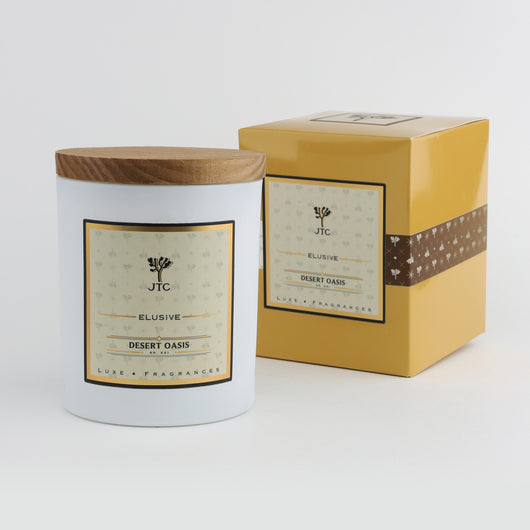 Joshua Tree Candle Company JT Luxe Collection - Desert Oasis - White Vessel with Gift Box