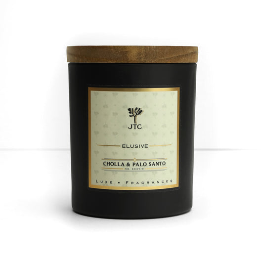 Cholla & Palo Santo Luxe Candle in Black Matte Colored Glass