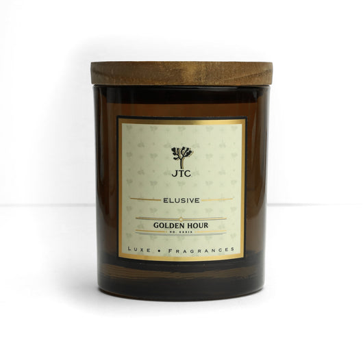 Golden Hour Luxe Candle in Amber Colored Glass