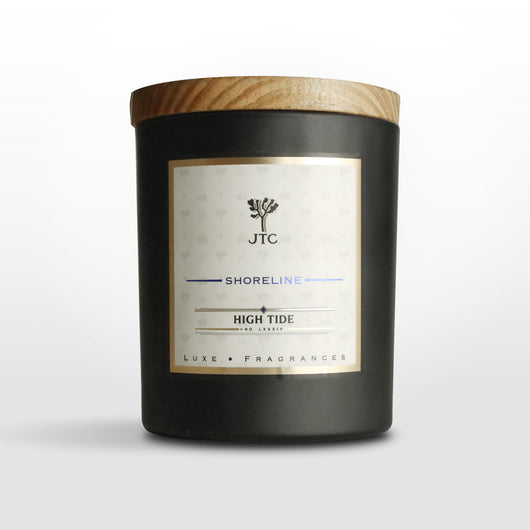 High Tide Luxe Candle in Black Matte Colored Glass