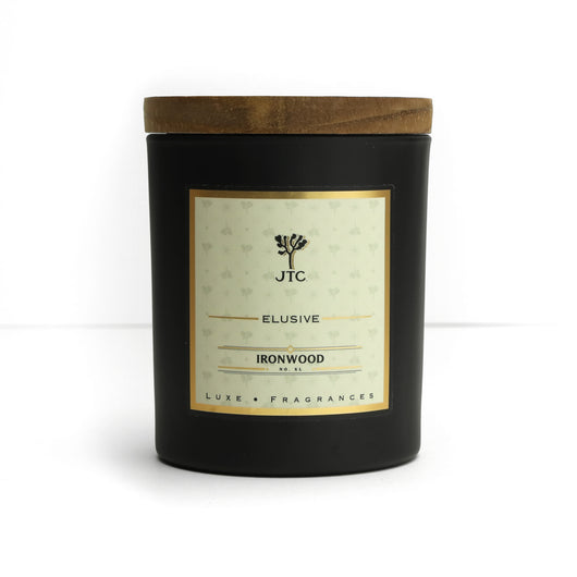 Ironwood Luxe Candle in Black Matte Colored Glass