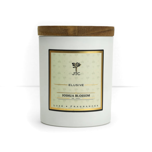 Joshua Blossom Luxe Candle in White Matte Colored Glass