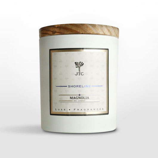 Magnolia Luxe Candle in White Matte Colored Glass