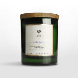 Sea Breeze Luxe Candle in Green Colored Glass