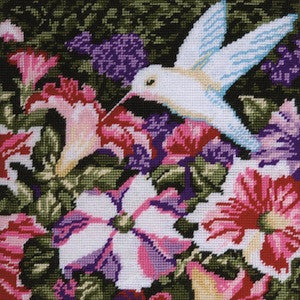 Kit petits points - hummingbirds