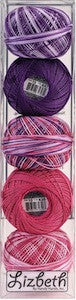 Assortiment fils Lizbeth grosseur 10 - Girly mix