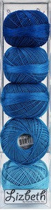 Assortiment fils Lizbeth grosseur 10 - Blue ombre