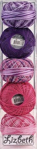 Assortiment fils Lizbeth grosseur 20 - Girly mix
