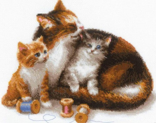 Chats et chattons - cat with kittens