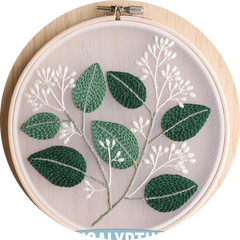 Kit broderie traditionnelle - eucalyptus