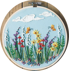 Kit broderie traditionnelle - green fields